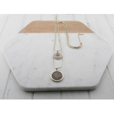 Gold 2 Length Disc Necklace