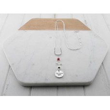 "Red Bead ""PS I Love You""Necklace"