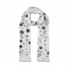 White / Black Spot Scarf