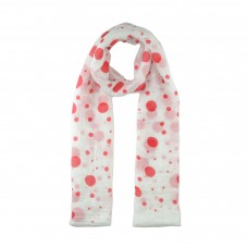 White / Red Spot Scarf