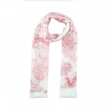 Red/White Paisley Print Scarf