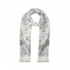 Brown / Paris Print Scarf