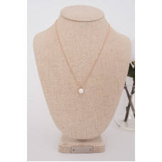 Fine - Rose Gold Pearl Drop Necklace