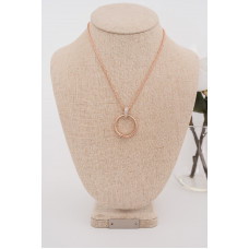 Fine - Rose Gold Cubic Zirconia Ring Necklace