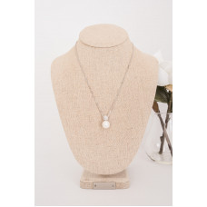 Fine - Silver Crystal & Pearl Necklace