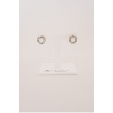 Fine - Silver Circle Crystal Earring