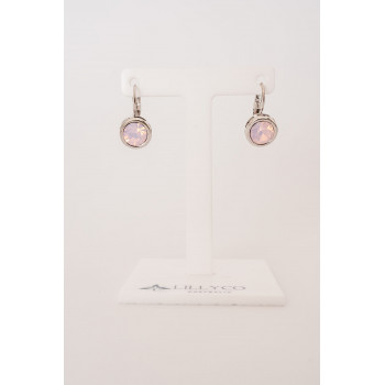 Fine - Silver with Pink Opal Earring