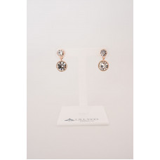 Fine - Rose Gold with Cubic Zirconia Earring