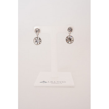 Fine - Silver with Cubic Zirconia Earring