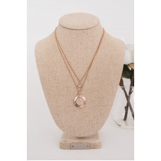 Fine Rose Gold 2 layer Crystal Necklace