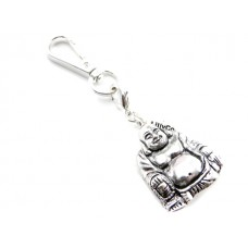 Silver Buddha Key Ring