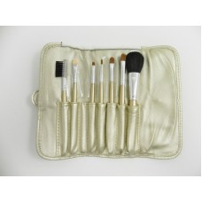 Gold 7 Piece Brush Set With Clasp