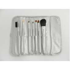 Silver 7 Piece Brush Set With Clasp