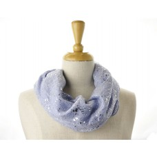 Light Blue with Silver Metallic Specks Scarf