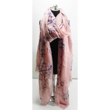 Pink Branches Scarf