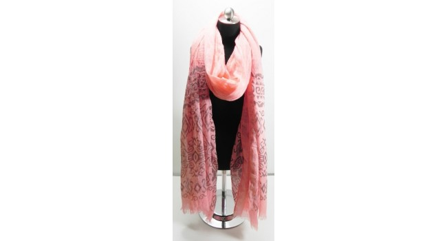 Pink Aztec Scarf