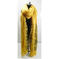 Yellow Aztec Scarf