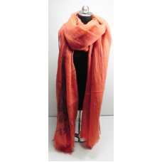 Orange Eiffel Tower Scarf