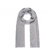 Grey Heart Metallic Scarf