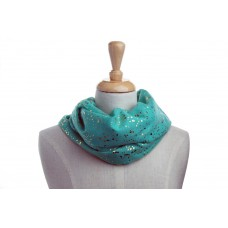 Green with Gold Metallic Foil Specks Scarf