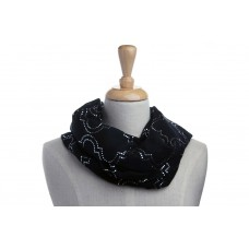 Black & Gold Metallic Foil Dot Scarf