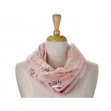 Pink Little Fish Metallic Foil Print Scarf