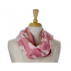 Pink with White Daisy Print Scarf