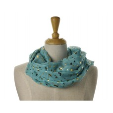 Green Confetti Metallic Scarf
