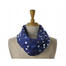 Navy with Silver  Metallic Big Dot Scarf