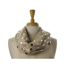 Sand with Silver  Metallic Big Dot Scarf