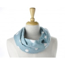 Blue with White Spots Scarf