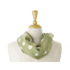 Green with White Spots Scarf