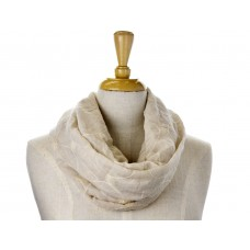 Cream Fabric with Cream Embroidery Scarf