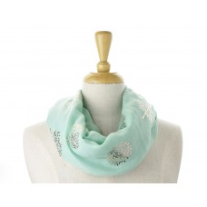 Mint Rose Gold Tree Metallic Scarf