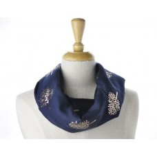 Navy Rose Gold Tree Metallic Scarf