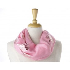 Pink Rose Gold Tree Metallic Scarf