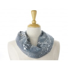 Blue Silver Splatter Metallic Scarf
