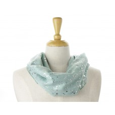 Green Silver Splatter Metallic Scarf