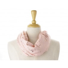 Pink Rose Gold Splatter Metallic Scarf