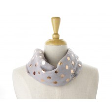 Grey Rose Dot Metallic Scarf