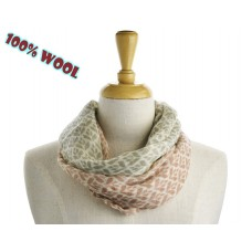 Mixed Pink & Beige Wool Scarf