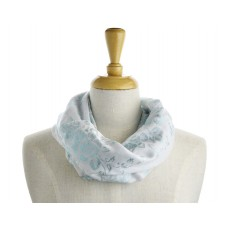 Grey  with Blue/Green Metallic Scarf