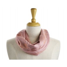 Pink with Metallic Strip Scarf