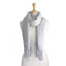 Thick Grey Scarf With Boarder