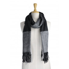 Black Check Warm Scarf