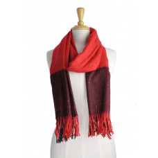 Red Check Warm Scarf