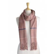 Pink Check Warm Scarf