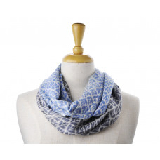 Wool Blue & Grey Half & Half Scarf
