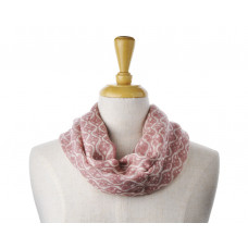 Wool Blush Pink Pattern Scarf