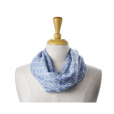 Wool Light Blue Pattern Scarf